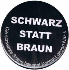 """Zum 25mm Magnet-Button """"Schwarz statt Braun"""" für 2,00 € gehen."""