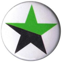 """Zum 25mm Magnet-Button """"schwarz/grüner Stern"""" für 1,95 € gehen."""