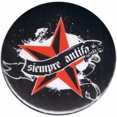 """Zum 25mm Magnet-Button """"Siempre Antifascista"""" für 2,00 € gehen."""