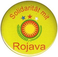 """Zum 25mm Magnet-Button """"Solidarität mit Rojava"""" für 2,00 € gehen."""