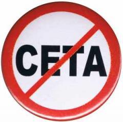 """Zum 25mm Magnet-Button """"Stop CETA"""" für 2,00 € gehen."""
