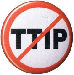 """Zum 25mm Magnet-Button """"Stop TTIP"""" für 2,00 € gehen."""