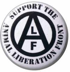 """Zum 25mm Magnet-Button """"support the Animal Liberation Front"""" für 2,00 € gehen."""