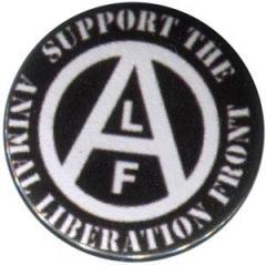 """Zum 25mm Magnet-Button """"support the Animal Liberation Front (schwarz)"""" für 2,00 € gehen."""