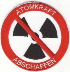 """Zum Aufnäher """"Atomkraft abschaffen (Nuklearzeichen)"""" für 3,00 € gehen."""