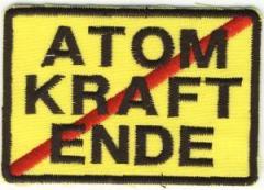 """Zum Aufnäher """"Atomkraft Ende"""" für 3,00 € gehen."""