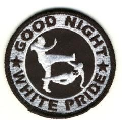 """Zum Aufnäher """"Good night white pride"""" für 3,00 € gehen."""