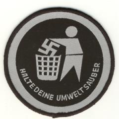 """Zum Aufnäher """"Halte deine Umwelt sauber"""" für 2,92 € gehen."""