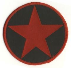 """Zum Aufnäher """"Roter Stern in schwarzem Kreis"""" für 3,00 € gehen."""