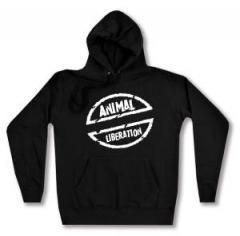 """Zum taillierter Kapuzen-Pullover """"Animal Liberation"""" für 27,29 € gehen."""