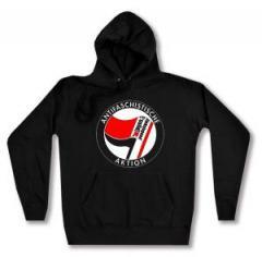 """Zum taillierter Kapuzen-Pullover """"Antifaschistische Aktion - linksjugend [´solid]"""" für 30,00 € gehen."""