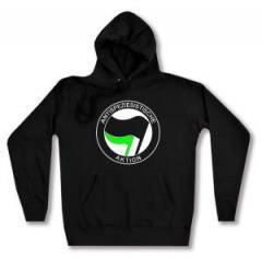 """Zum Woman Kapuzen-Pullover """"Antispeziesistische Aktion (schwarz/grün)"""" für 27,00 € gehen."""