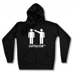 """Zum taillierter Kapuzen-Pullover """"Capitalism [TM]"""" für 28,00 € gehen."""