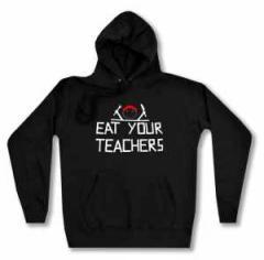 """Zum taillierter Kapuzen-Pullover """"Eat your teachers"""" für 29,24 € gehen."""