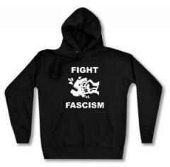 """Zum taillierter Kapuzen-Pullover """"Fight Fascism"""" für 27,29 € gehen."""