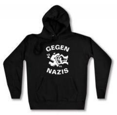 """Zum taillierter Kapuzen-Pullover """"Gegen Nazis"""" für 28,00 € gehen."""