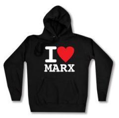 """Zum Woman Kapuzen-Pullover """"I love Marx"""" für 27,00 € gehen."""