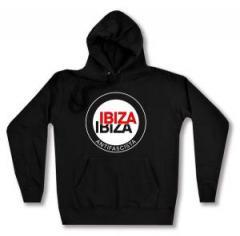 """Zum taillierter Kapuzen-Pullover """"Ibiza Ibiza Antifascista (Schrift)"""" für 27,29 € gehen."""