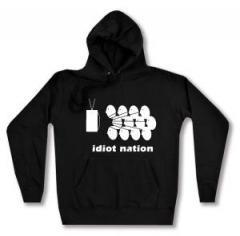 """Zum Woman Kapuzen-Pullover """"Idiot Nation"""" für 27,00 € gehen."""