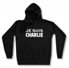 """Zum taillierter Kapuzen-Pullover """"Je suis Charlie"""" für 28,00 € gehen."""