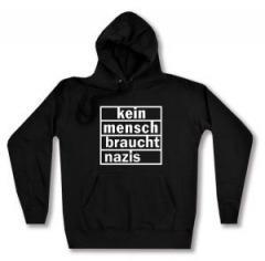 """Zum taillierter Kapuzen-Pullover """"kein mensch braucht nazis"""" für 28,00 € gehen."""