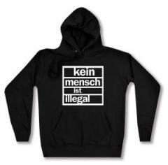 """Zum Woman Kapuzen-Pullover """"Kein Mensch ist Illegal"""" für 27,00 € gehen."""