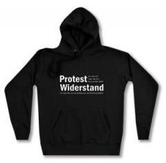"""Zum taillierter Kapuzen-Pullover """"Protest ist, wenn ich sage, das und das passt mir nicht. Widerstand ist, wenn das, was mir nicht passt, nicht mehr geschieht."""" für 28,00 € gehen."""