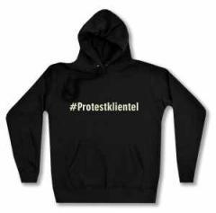 """Zum taillierter Kapuzen-Pullover """"#Protestklientel"""" für 27,29 € gehen."""