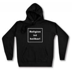"""Zum taillierter Kapuzen-Pullover """"Religion ist heilbar!"""" für 27,29 € gehen."""