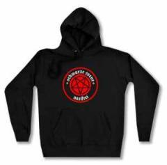 """Zum Woman Kapuzen-Pullover """"Schwarze Szene Nazifrei - Rotes Pentagramm"""" für 27,00 € gehen."""