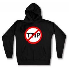 """Zum taillierter Kapuzen-Pullover """"Stop TTIP"""" für 28,00 € gehen."""