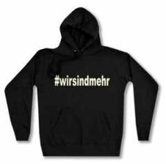 """Zum taillierter Kapuzen-Pullover """"#wirsindmehr"""" für 27,29 € gehen."""