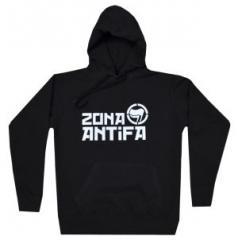 """Zum taillierter Kapuzen-Pullover """"Zona Antifa"""" für 27,29 € gehen."""