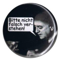 """Zum 37mm Button """"Adorno - Bitte nicht falsch verstehen!"""" für 0,97 € gehen."""