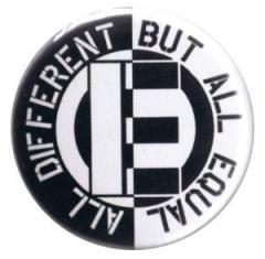 """Zum 37mm Button """"All different but all equal"""" für 0,97 € gehen."""