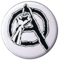 """Zum 37mm Button """"Anarchie Faust"""" für 1,00 € gehen."""