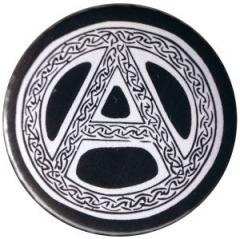 """Zum 37mm Button """"Anarchie - Tribal (schwarz)"""" für 1,00 € gehen."""