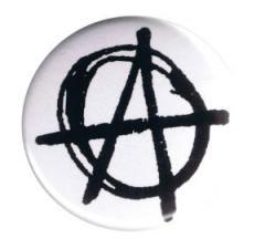 """Zum 37mm Button """"Anarchie (weiß)"""" für 1,00 € gehen."""