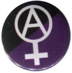 """Zum 37mm Button """"Anarcho-Feminismus (schwarz/lila)"""" für 1,00 € gehen."""