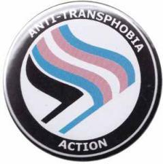 """Zum 37mm Button """"Anti-Transphobia Action"""" für 1,00 € gehen."""
