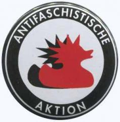 """Zum 37mm Button """"Antifaschistische Aktion (Enten)"""" für 1,00 € gehen."""