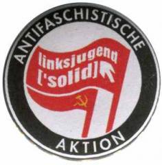 """Zum 37mm Button """"Antifaschistische Aktion Linksjugend"""" für 1,20 € gehen."""