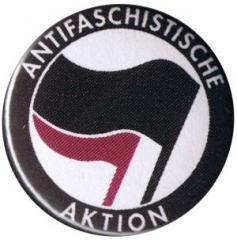 """Zum 37mm Button """"Antifaschistische Aktion (schwarz/lila)"""" für 1,00 € gehen."""