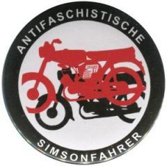 """Zum/zur  37mm Button """"Antifaschistische Simsomfahrer"""" für 1,20 € gehen."""