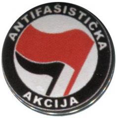 """Zum 37mm Button """"Antifasisticka Akcija (rot/schwarz)"""" für 1,00 € gehen."""