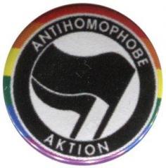 """Zum 37mm Button """"Antihomophobe Aktion (schwarz/schwarz)"""" für 1,00 € gehen."""