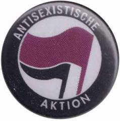 """Zum 37mm Button """"Antisexistische Aktion (lila/schwarz)"""" für 1,00 € gehen."""