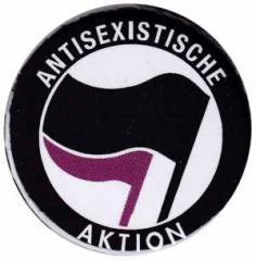 """Zum 37mm Button """"Antisexistische Aktion (schwarz/lila)"""" für 1,00 € gehen."""