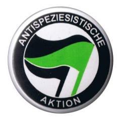 """Zum 37mm Button """"Antispeziesistische Aktion (schwarz-grün/schwarz)"""" für 1,00 € gehen."""