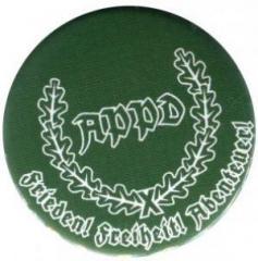 """Zum 37mm Button """"APPD Ährenkranz Frieden! Freiheit! Abenteuer! (grün)"""" für 1,00 € gehen."""